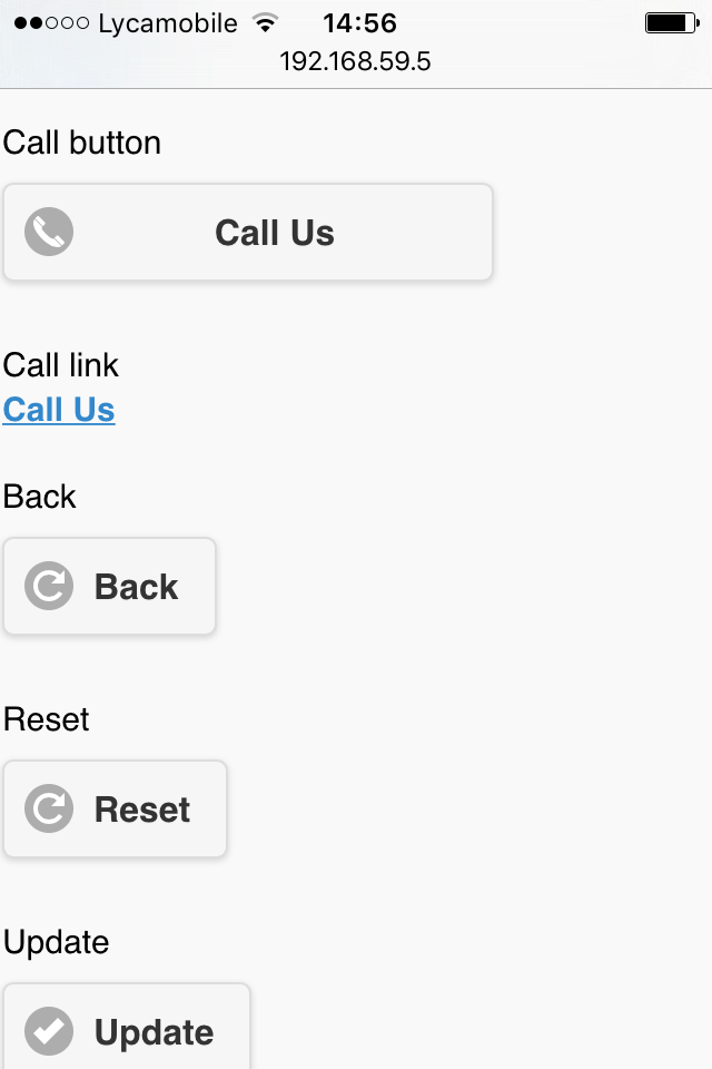 Screenshot from the iPhone/Android flavor of the Call button