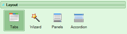 Screenshot of the Layout section of the Workbook tab in the task pane
